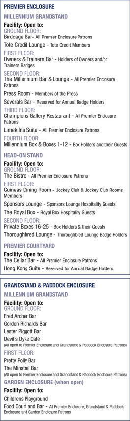 Rowley Mile Enclosure Food & Drink