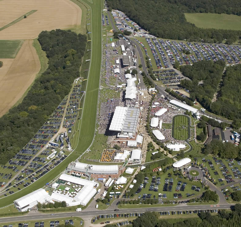 Glorious Goodwood Racecourse Aerial