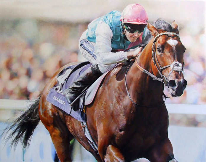 Frankel wins the Lockinge Stakes 2012