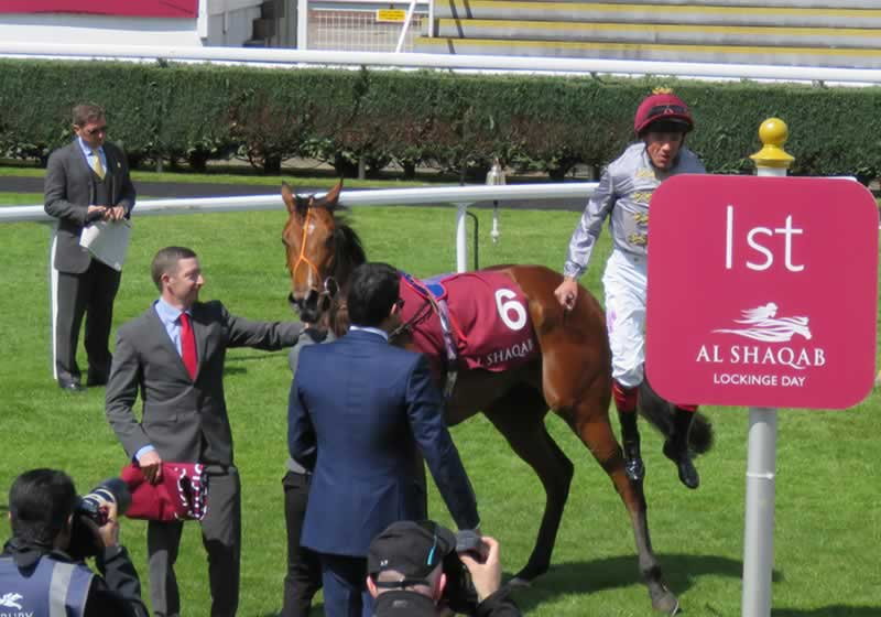Newbury Lockinge Day Dettori Dismount
