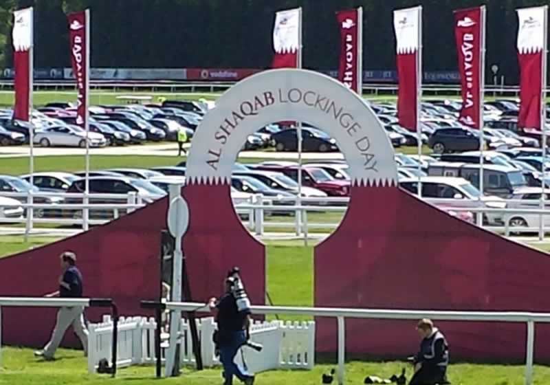Newbury Lockinge Day Winning Post