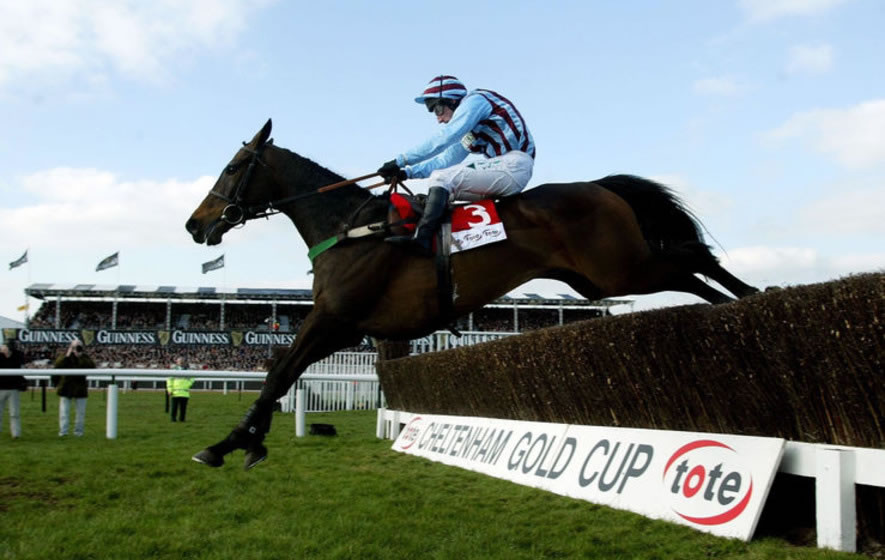 Jim Cullotty and Best Mate winning the Cheltlenham Gold Cup in 2003
