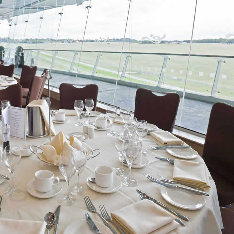View of Epsom Downs racecourse track from Duchess Grandstand