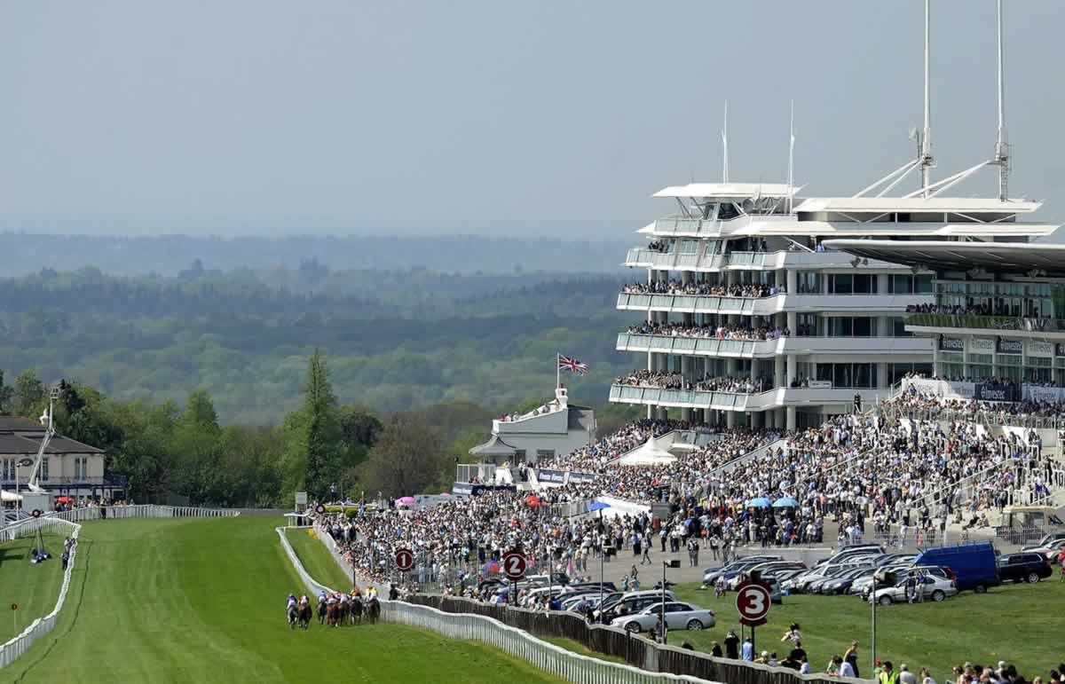 Epsom Downs Racecource on Derby Day