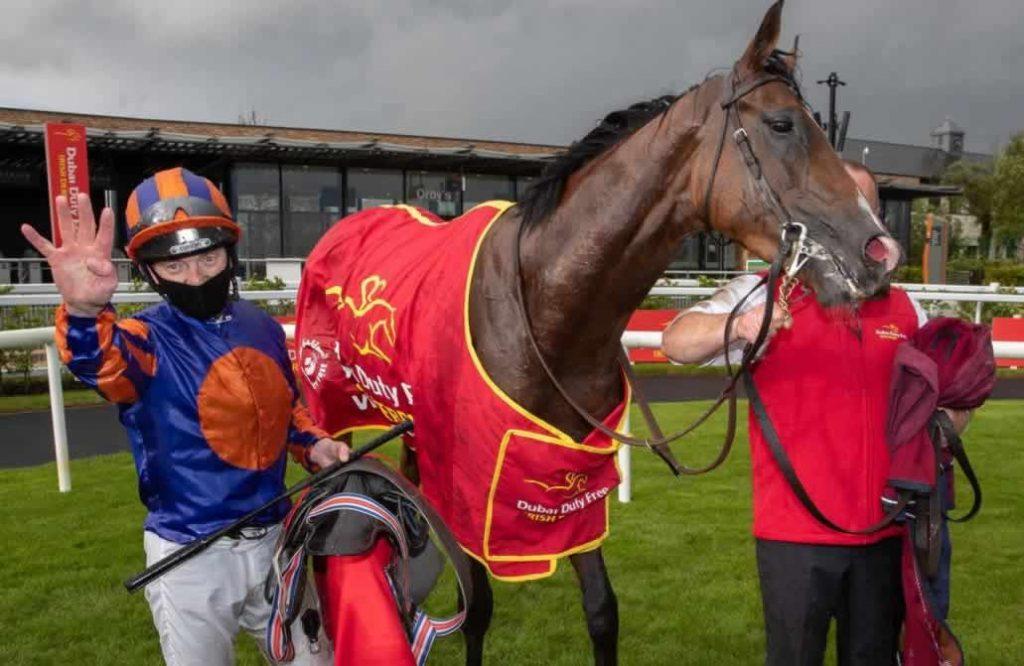 Samtiago wins the Irish Derby 2020 at the Curragh Racecourse