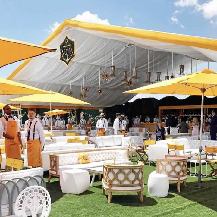 Veuve-Clicqhot champagne bar at Glorious Goodwood